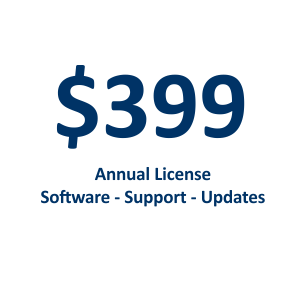 $399 Annual Software License